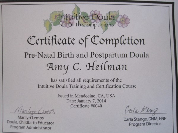 doula birth heilman amy placenta certifications encapsulation evaluating important learn